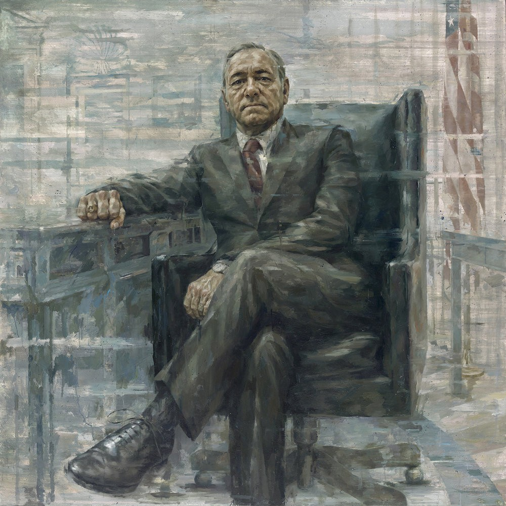 Kevin Spacey as President Francis J. Underwood, door Jonathan Yeo; Smithsonian, National Portrait Gallery